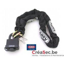 Chaine et cadenas Abus série 6KS black