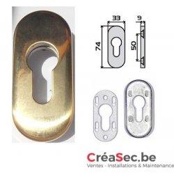 Rosace dorée pour porte aluminium et PVC