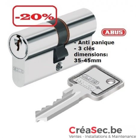 Cylindre ABUS 40-45 anti panique
