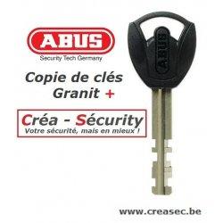 Clé copie Abus Granit Plus