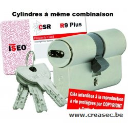 cylindre ISEO csrR9+