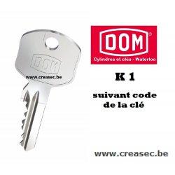 copie clé Dom K1
