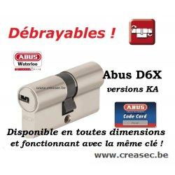 Abus D6x à même clés sur creasec.be
