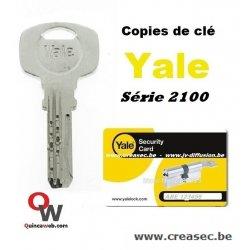 Copie clé Yale avec carte - CREASEC.BE